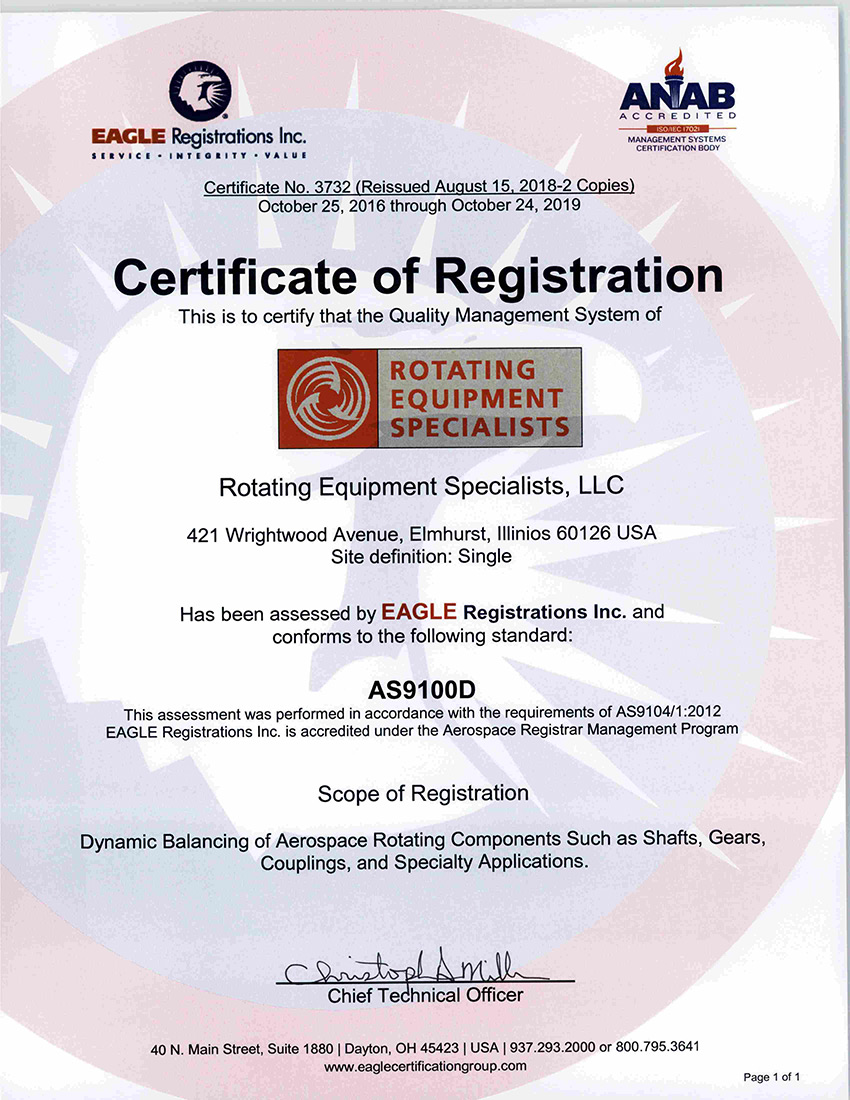 Rotating Equipment Specialists Certificate Of Registration